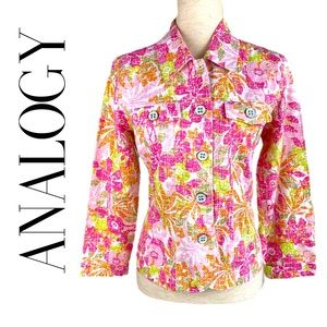 ANALOGY FLORAL JACKET IN BRIGHT COLORS MP